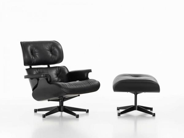 Lounge Chair groß & Ottoman black