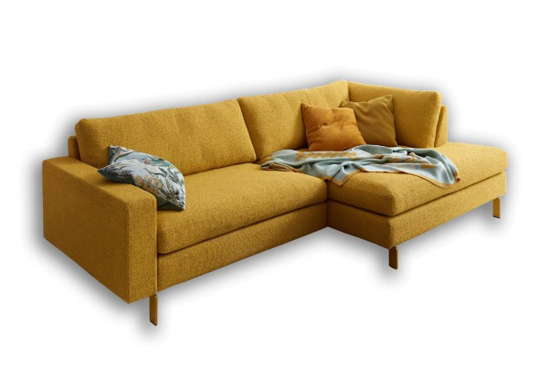 CONSETA Sofa mit quadratischer Abschlussliege
