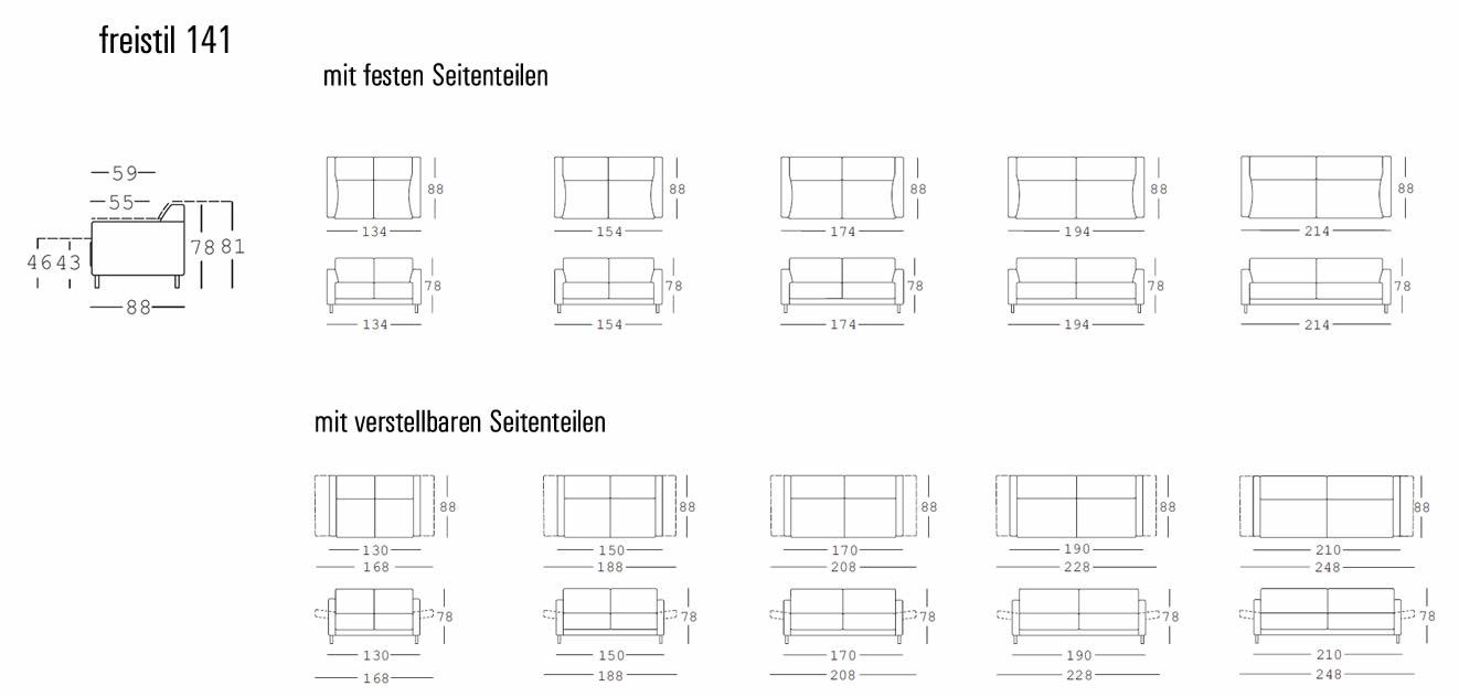 Rolf Benz Sofa Freistil 141 Drifte Onlineshop