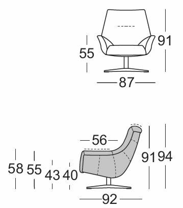 rolf-benz-sessel-566-abmessungen