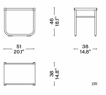 cassina-lc-9-hocker-abmessungen
