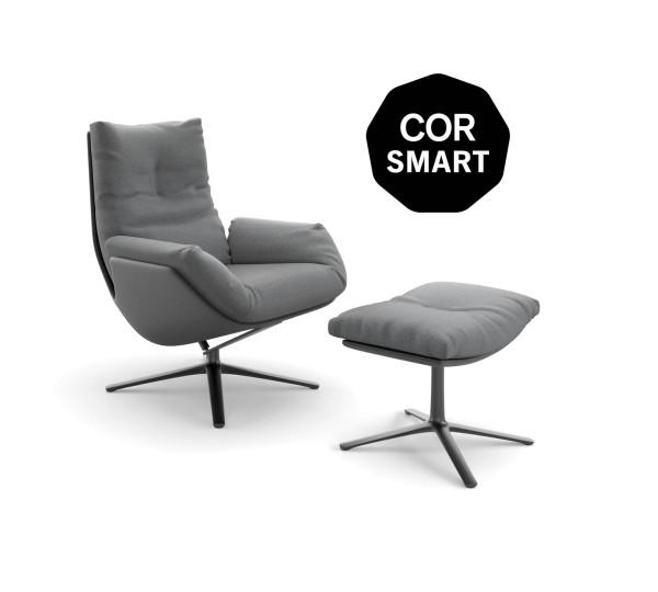 Smart Cordia Lounge Sessel + Hocker