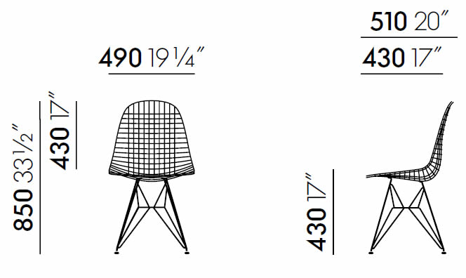 vitra-wire-chair-dkr2-abmessungen