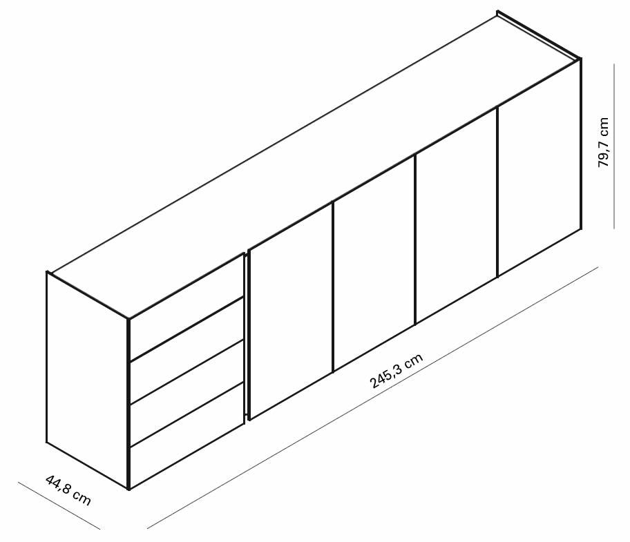 interluebke-sideboard-jorel-245-cm-mit-abdeckplatte-abmessungen