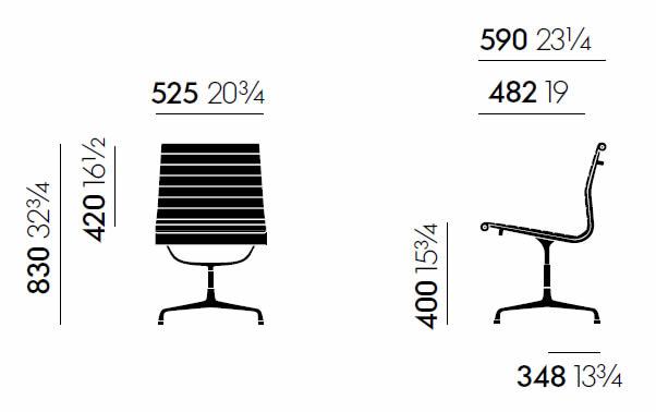 vitra-ea-105-aluminium-chair-abmessungen
