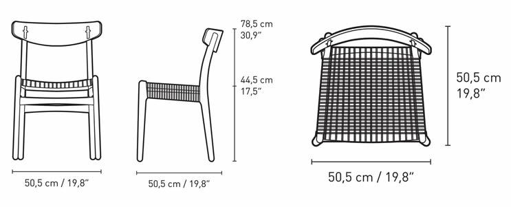 carl-hansen-ch23-chair-abmessungen