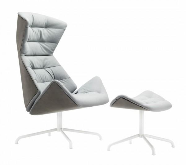 """Lounge Sessel 808 """"Under"""" mit Hocker"""