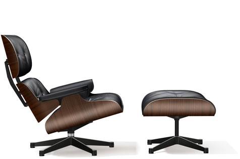 Lounge Chair & Ottoman, klassisch