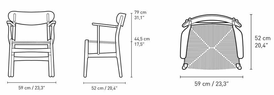 carl-hansen-ch26-chair-abmessungen