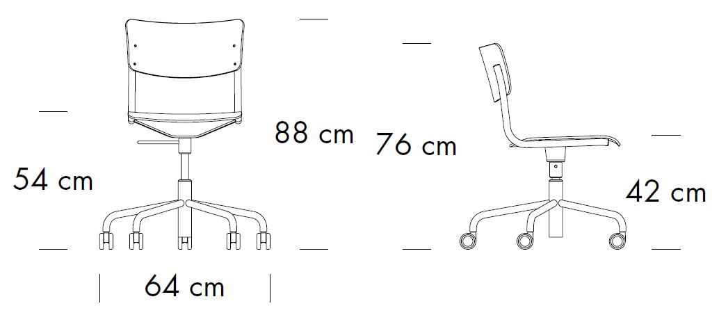 thonet-s43-DR-abmessungen
