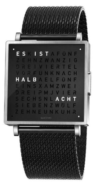 "Armbanduhr ""BLACK COLLECTION"" Milanaise Armband"