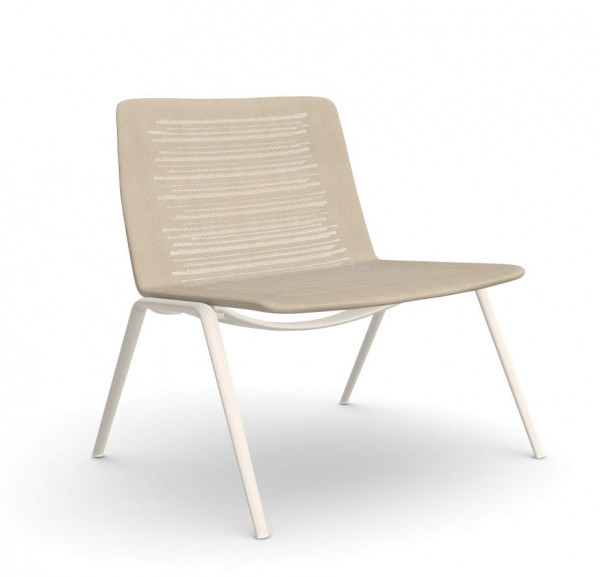 Zebra Knit Lowback Lounge Chair