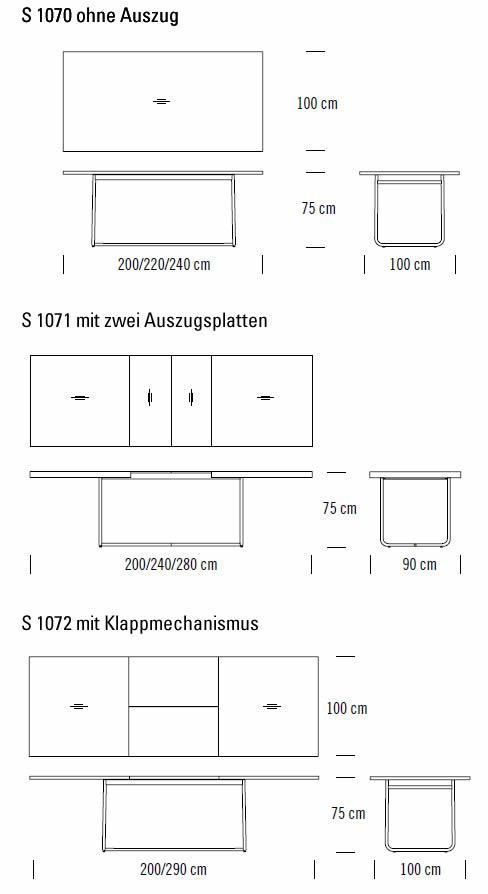thonet-s-1070-1071-1072-abmessungen