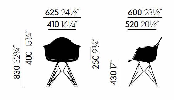 vitrea-dar-eames-plastic-chair-abmessungen