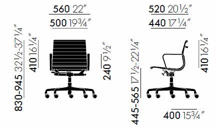 vitra-aluminium-chair-ea-118-abmessungen