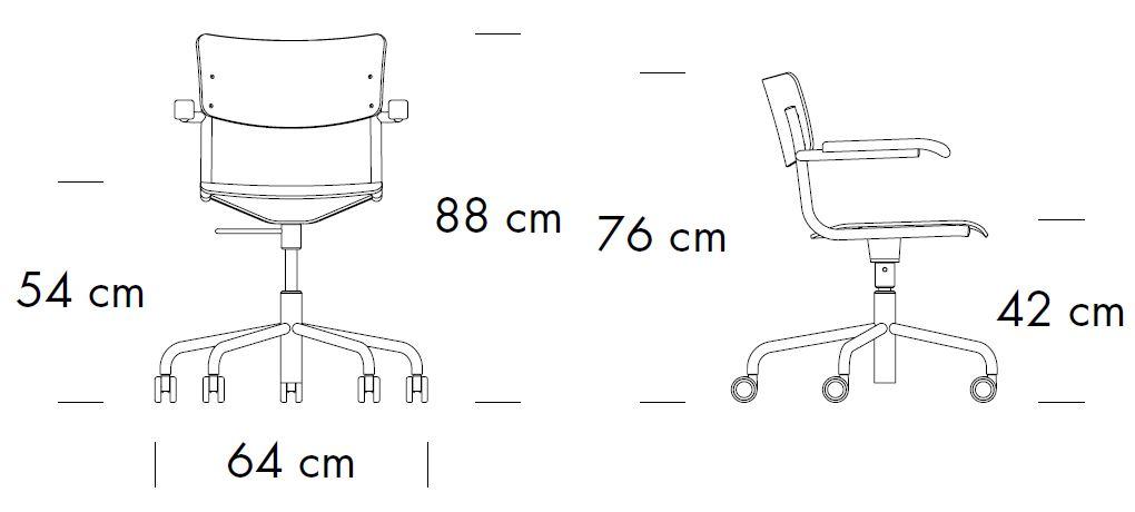 thonet-s43FDR-abmessungen