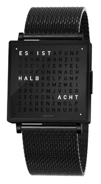 "Armbanduhr ""Black Steel"" Milanaise Armband"