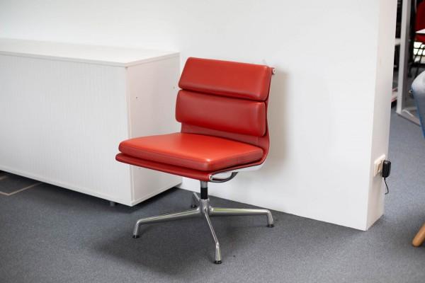 Soft Pad Chair Leder rot Ausstellungsstück
