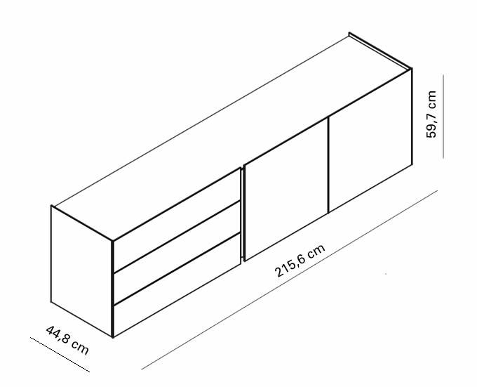 interluebke-sideboard-jorel-215-cm-mit-abdeckplatte-abmessungen