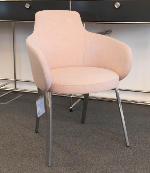 Stuhl Roc Stoff rosa Ausstellungsstück
