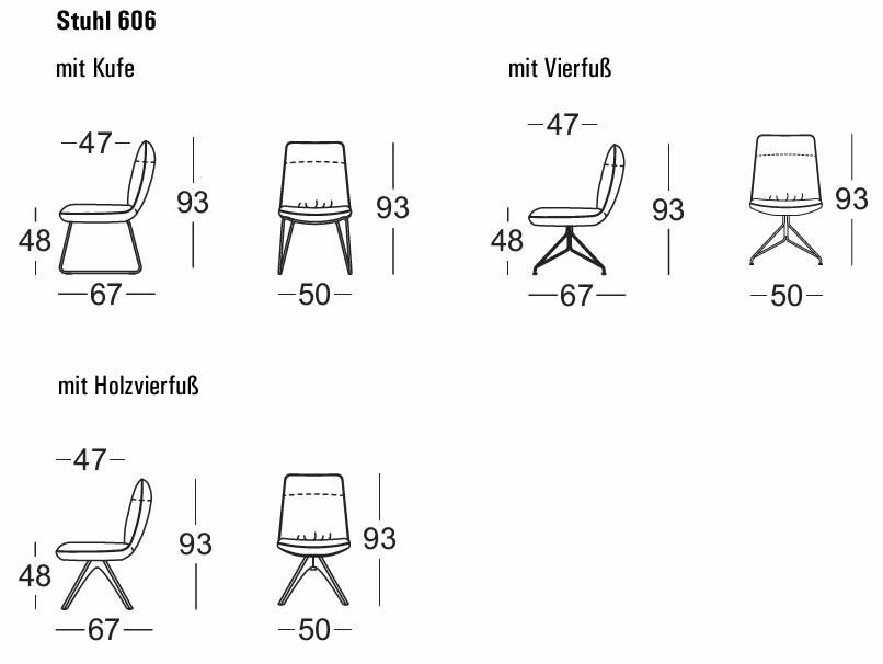 rolf-benz-stuhl-606-abmessungen