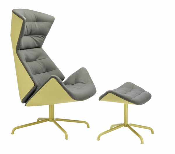 "Lounge Sessel 808 ""Urban"" mit Hocker"