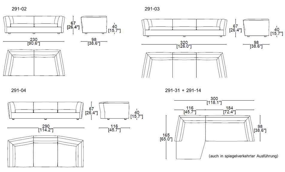 cassina-dress-up-291-sofa-abmessungen