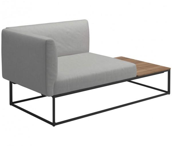 Maya Lounge Endelement mit Tischablage