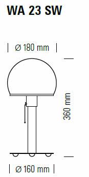 tecnolumen-wagenfeld-leuchte-wa23sw-abmessungen