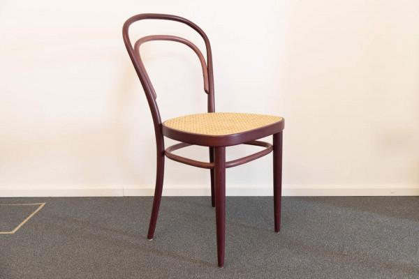 Stuhl 214 Two Tone samtrot Ausstellungsstück