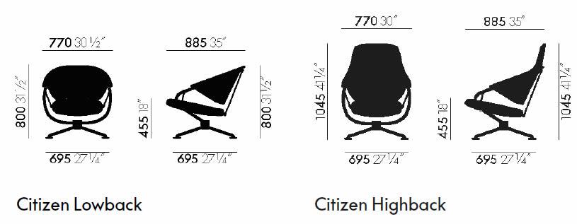 vitra-citizen-sessel-abmessungen