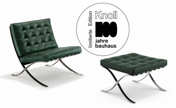 Barcelona Sessel mit Hocker Limited 100 Jahre Bauhaus Edition