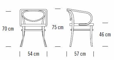 thonet-210-stuhl-abmessungen