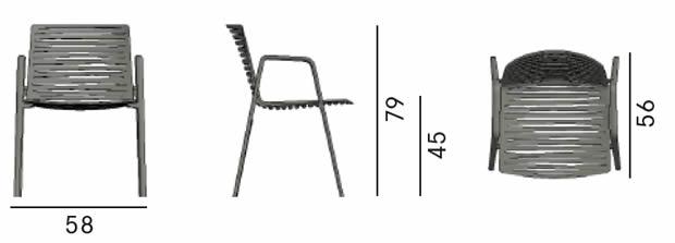 fast-outdoor-lifestyle-zebra-armchair-abmessungen