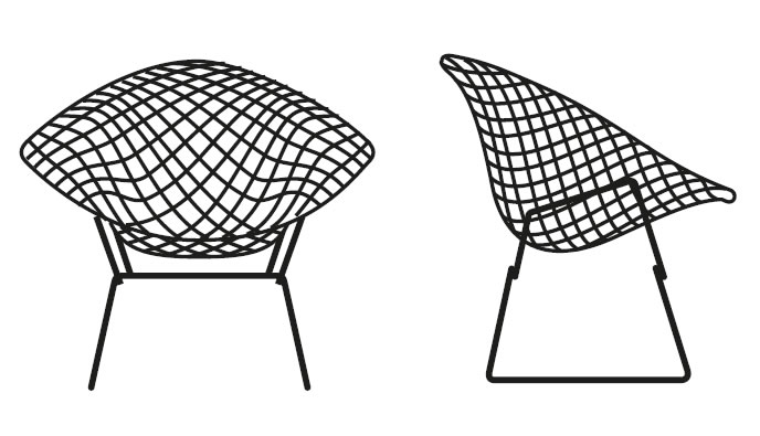 knoll-international-bertoia-diamond-chair-grafik