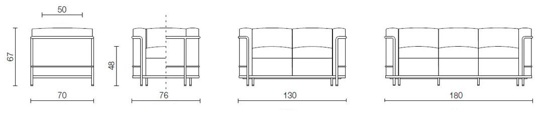 cassina-lc2-sofa-abmessungen