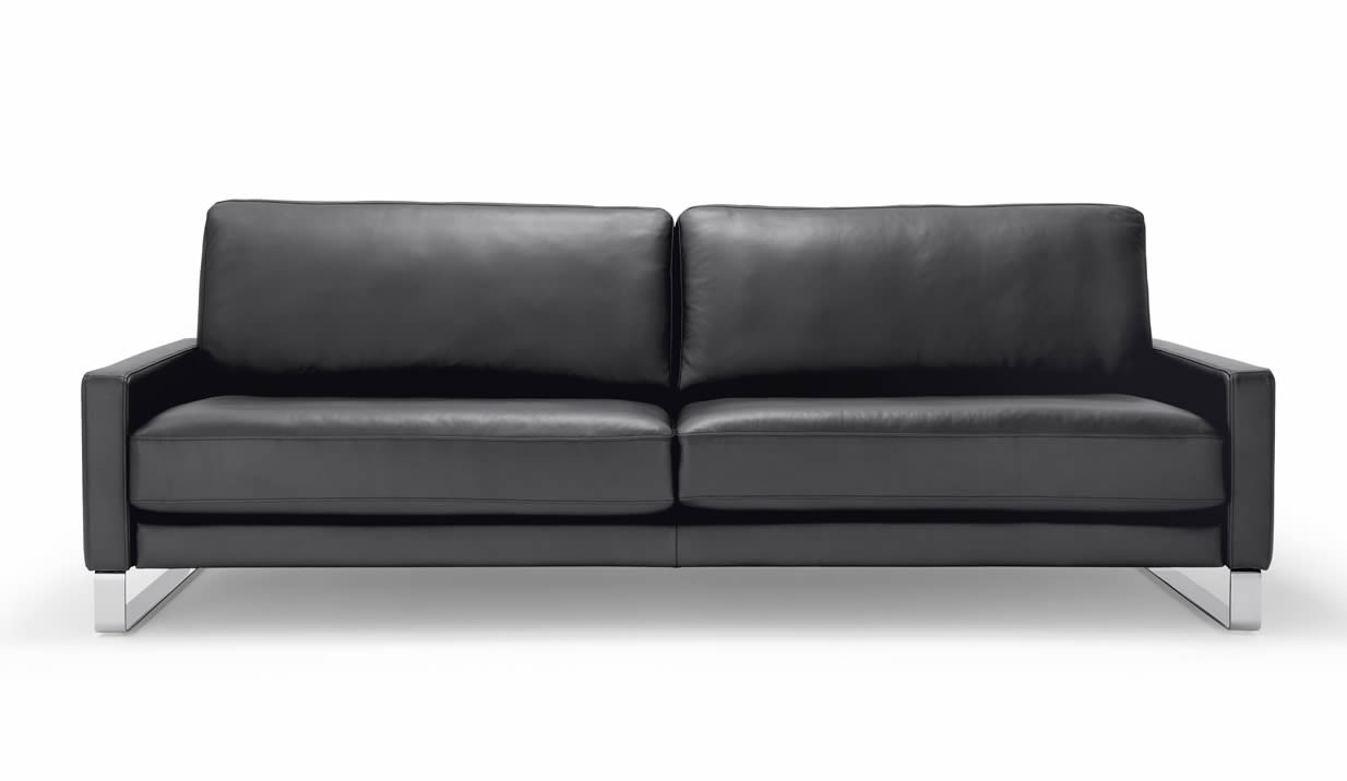 Ledersofa schwarz rolf benz for Couch benz