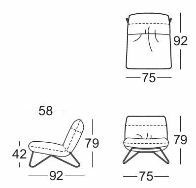rolf-benz-sessel-394-abmessungen