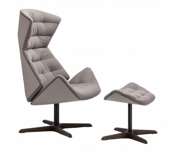 "Lounge Sessel 808 ""Air"" mit Hocker"